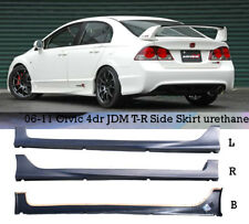 FIT 06-11 HONDA CIVIC FD1 CTR SIDE SKIRT PP+ FEELS SPLITTER BLACK SHIP FAST