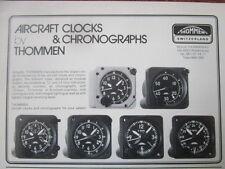 82-84 PUB REVUE THOMMEN WALDENBURG SUISSE AIRCRAFT CLOCK CHRONOGRAPH ORIGINAL AD