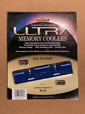 Ultra Memory Coolers ULT30130 Blue Aluminum - Overclocking & Performance