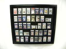 Baseball Card display Case for 50 Graded Cards black