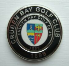 TOP QUALITY 2-IN-1 DUO MEDALLION GOLF BALL MARKER FROM CRUDEN BAY GC - SCOTLAND.
