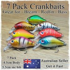 7 Fishing Lures Bream Bass Trout Redfin Perch Cod Flathead Whiting Tackle 4.5cm