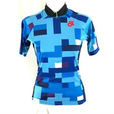 Champion System Womens Cycling Jersey 3/4 Zip Short Sleeve Pockets Blue Size XS