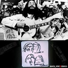 John Lennon & Yoko Ono guitar sticker Gibson J-160E Peace Montreal Amsterdam