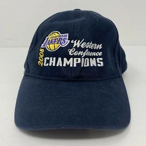 Los Angeles Lakers 2008 Conf Champion Kobe Hat Twins Enterprise Adjustable OSFA