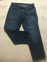Eddie Bauer womens size 6 jeans crop Boyfriend Relaxed fit blue denim
