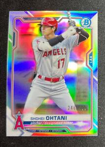 2021 Bowman Chrome #27 Shohei Ohtani Refractor /499 Los Angeles Angels