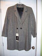 Vintage NWT Destinctive Coat Co. Size 16 Wool Gray Tweed Double Breast