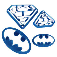 4pcs Christmas Batman Superman Super Hero Cake Cookie Cutter Biscuit Mould Mold