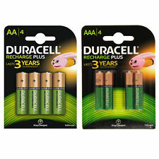 Duracell Plus AA + AAA Rechargeable Remote Camera Battery Batteries Combo 8 Pack