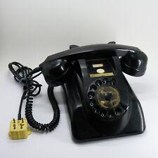 VINTAGE BLACK BAKELITE DESK PHONE TELEPHONE ROTARY PTT HOLLAND
