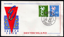 EUROPA CEPT FDC 1958 ALLEMAGNE 3