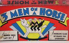 Vtg 1936 Three Men on A Horse Movie Board Game MB Warner Bros