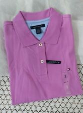 New Tommy Hifiger Women Short Sleeve Tee T-shirt Easy Fit Purple Size S