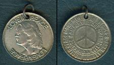 JOHN LENNON The Beatles LOVE & PEACE Asahi Mutual Life Insurance Japan Medal