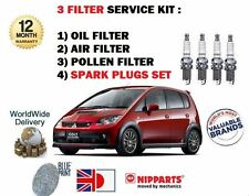 FOR MITSUBISHI COLT 1.6 MIRAGE 1996-2004 OIL AIR POLLEN FILTER SERVICE KIT PLUGS