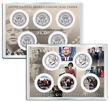 JOHN F KENNEDY JFK100 Birthday 2017 JFK Half Dollar 5-Coin Set Assassination 4x6