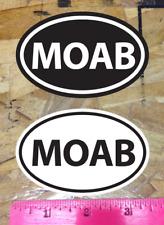 MOAB Utah Off Road UHV Mountain Bike sticker decal Black & White - 2 for 1 bonus