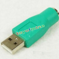 ADAPTADOR USB PS2 Macho A Usb Hembra CONVERTIDOR CONVERSOR PARA RATON O TECLADO