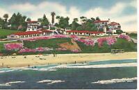 San Clemente CA Beachcomber's Apartments Postcard c1940