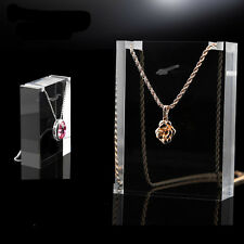 Clear Acrylic necklace Pendant Display stand Jewelry storage Holder Organizer