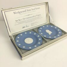 Wedgewood Jasperware State Seal Series 1st set in series (Virginia & Jefferson)