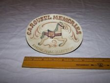 1985 Ceramic Willetts Designs Shelf Sign Carousel Memories Americana Collection