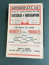 More details for gateshead v northampton 29th november 1958 division four