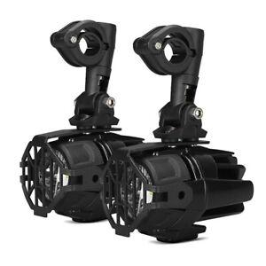 Motorrad LED Zusatzscheinwerfer + Sturzbügel Halter und Schutzgitter SX22 B-Ware
