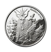 1 OZ SILVER COIN FREYA-VALKYRIE NORSE GOD SERIES #4 IN SERIES PROOF-#COA VIKING