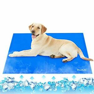 HueLiv Dog Cooling Mat,XXL Large Pet Cool Mat for Bed, Dog Cat Ice Mat with Self
