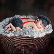 Neugeborene Baby Sets Jungen Strick Kostüm Häkel Mütze Hose Fotoshooting 2018 DE
