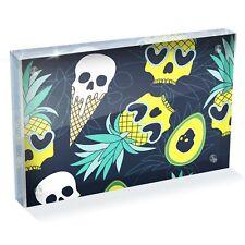 "Hawaii Horror Pineapple Skulls Photo Block 6 x 4"" - Desk Art Office Gift #16020"