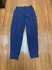 Vtg 90s Nike Nylon Track Tennis Pants Mens Medium Pockets Lined Zip Ankle Blue