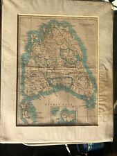 Vintage Tasmania in Australia Map Genuine Antique