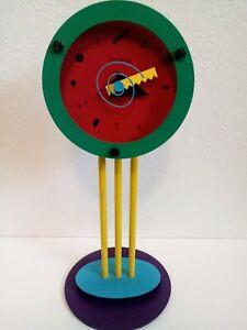 Canetti Table Art Clock Memphis Post Modern Shohei Mihara Wakita Japan 1980's