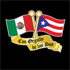 PUERTO RICO &  MEXICO FLAG CAR DECAL STICKER   #273M