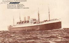 GERMAN STEAMSHIP - WW1 ERA VINTAGE SHIP POSTCARD