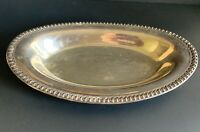 Vtg Wilcox 7075 by International Silver Silverplate Vegetable Dish Oval 12-1/2""