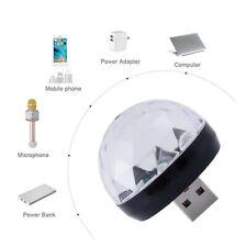 3USB Mini LED RGB Disco Stage Light Party Club DJ KTV Xmas Magic Phone Ball Lamp