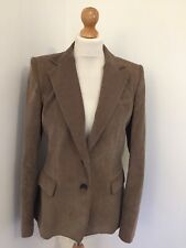 Reiss Jacket Medium ANGELO Brown Cord Blazer Button Up Collared Single Breasted