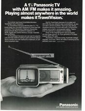 1980 Panasonic Travelvision TV Fits in your palm Vtg Print Ad