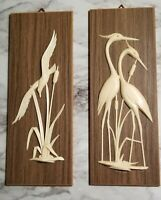 Vintage Bird Plaques, Decor from the 60's- 70's MCM