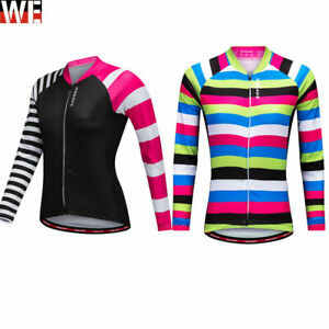 Clearance Ladies Long Sleeve Cycling Jersey Breathable Quick dry Bike Shirt Tops