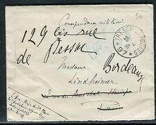 France - Enveloppe en FM  SP 97 ( Ambulance Alpine ) pour Paris 1915 réf O 176