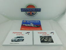 Toyota Estima 2006 onwards - Owner's Manual / Handbook & Service Record Booklet
