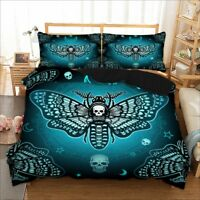 Skull Insect Duvet Cover Bedding Set Pillow Cases Quilt Cover All Sizes Bed Set