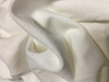 French Terry Modal Supima Spandex knit Fabric by the yard leggins weight -White