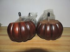 Set 4 Pumpkin Wood Feet Legs Sofa Furniture Repair DIY Crafts NEW