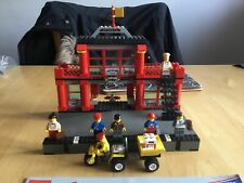 Lego 9v Train station. 4556 used with mini figs and instructions 4558 4511 4564